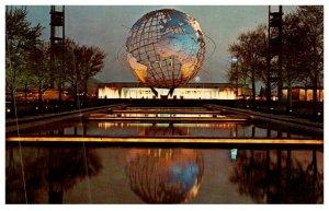 New York  Worlds Fair 1964 ,  Unisphere , night scene