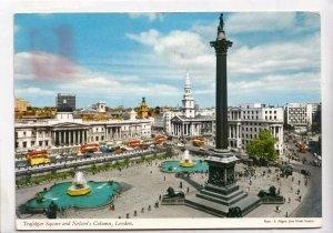 Trafalgar Square and Nelson's Column, London, 1969 used Postcard