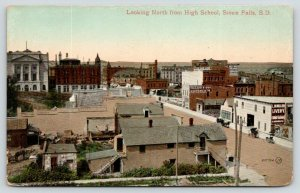 Sioux Falls South Dakota~Birdseye View North @ High School~Miller Livery~1909