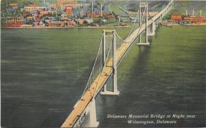 Wilmington Delaware~Factories & WaterTower in Memorial Bridge Background c1940