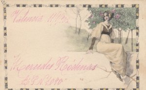 M.M. VIENNE : 1902 ; Art Nouveau Woman