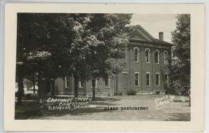 TAHLEQUAH, OKLAHOMA CHEROKEE COUNTY COURT HOUSE RPPC REAL PHOTO POSTCARD