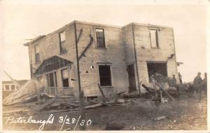 Peterborough? Disaster Scene Tornado Damage Real Photo Antique Postcard J81250