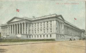 U.S. Treasury, Washington early 1900s unused Postcard