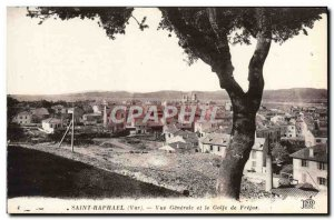 Old Postcard Saint Raphael Generale view and the Gulf of Frejus