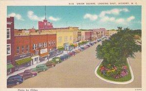 North Carolina Hickory Union Square Looking East Albertype