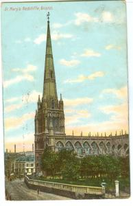 UK, St. Mary's Redcliffe, Bristol, 1906 used Postcard