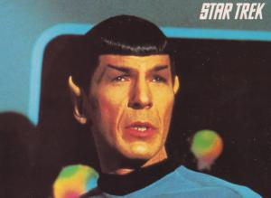Dr Spock & Kirk Its Life But Not As We Know It Captain Star Trek Postcard