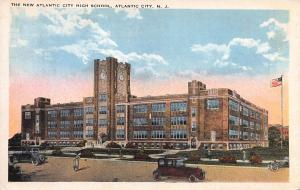New Atlantic City High School, Atlantic City, N.Y., Early Postcard, Unused