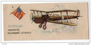 Slovak Trade card - Soap - American, Douglas - Aeroplane , 10-30s