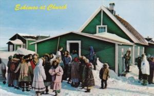 Alaska Eskimos At Church At Point Hope
