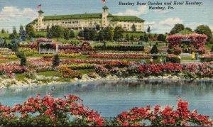 Pennsylvania Hershey The Hershey Rose Garden and Hershey Hotel Curteich