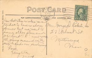 Milford Connecticut~Walnut Beach~Rowboat Below Sound View Hotel~Postcard 1922