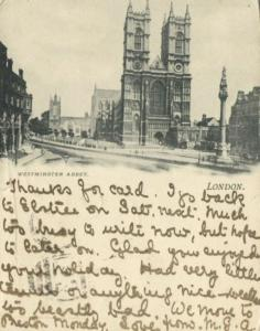 london, Westminster Abbey (1902) Court Card