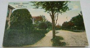 Yarmouth's Beautiful Hedges, Yarmouth, N. S., CA Vintage Postcard 1907-1914