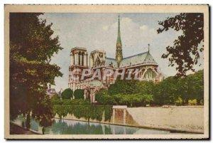 Old Postcard Paris Notre Dame the Headboard