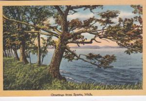 Michigan Greetings From Sparta 1947