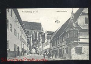 ROTHENBURG O. TBR. FEUERLEIN'S ERGER GERMANY ANTIQUE VINTAGE POSTCARD