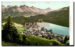 Postcard Old St Moritz Dorf