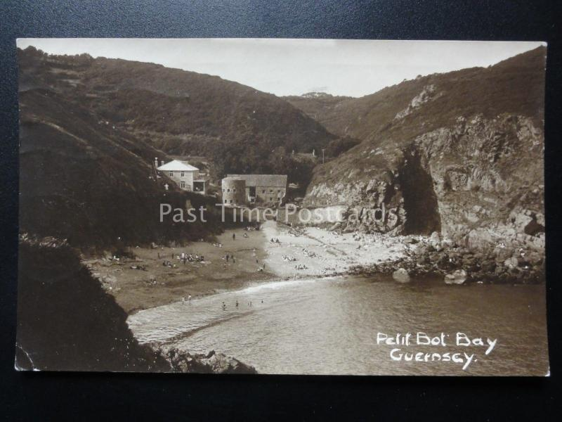 guernsey petit bot bay c1932 old rp postcard by norman grut of