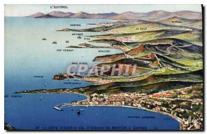 Old Postcard The French Riviera has stolen Menton Bird in Cannes
