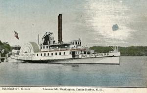 NH - Center Harbor. Steamer Mt Washington on Lake Winnipesaukee