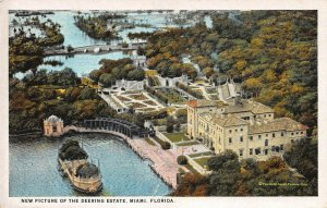 New Picture of the Deering Estate, Miami, Florida, Early Postcard, Unused