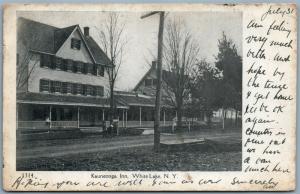 WHITE LAKE NY KAUNEONGA INN 1906 UNDIVIDED ANTIQUE POSTCARD
