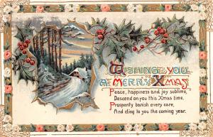 Christmas Postcard Old Vintage Antique Post Card