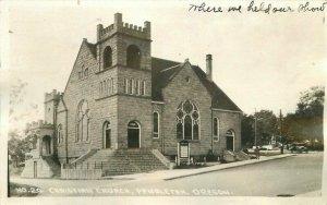 Pendleton Oregon 1939 Andrews Christian Church RPPC Photo Postcard 21-9557