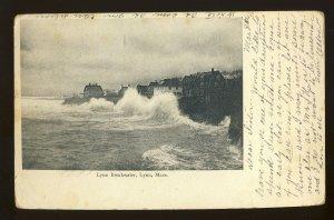 Lynn, Massachusetts/MA Postcard, Lynn Breakwater, 1906!