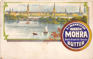 C26/ Advertising Ad Postcard c1910 Germany Mohrsche Margarine Mohra Factory 22