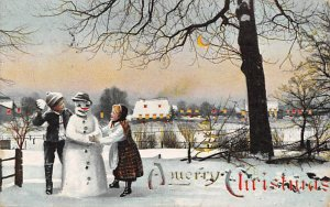 Merry Christmas Hold to Light 1909