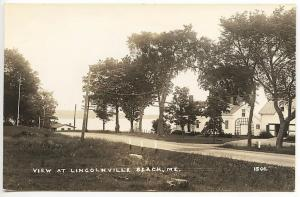 Lincolnville Beach ME Street View Eastern Illustrating RPPC Real Photo Postcard