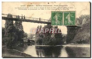 Paris - 19 - Buttes Chaumont - Suspension Bridge - Old Postcard