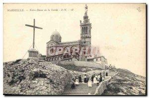 Postcard Old Marseille Notre Dame de la Garde Children