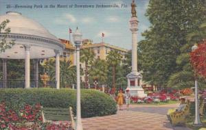 Florida Jacksonville Hemming Park Downtown Curteich