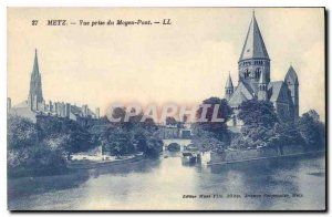 Old Postcard View Metz Middle Bridge decision