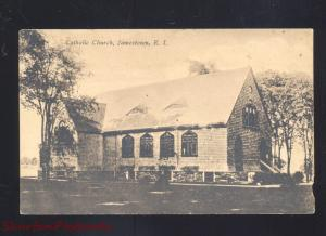 JAMESTOWN RHODE ISLAND CATHOLIC CHURCH ANTIQUE VINTAGE POSTCARD