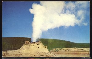 USA Postcard Castle Geyser Yellowstone National Park Wyoming