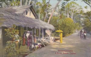 Street Scene , Boralesgamuwa , Ceylon , PU-1928