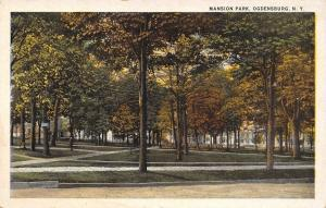 Ogdensburg New York~Homes Behind Mid-Autumn Trees~Mansion Park~1920s