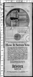 1924 Bendix Drive Crank Car Part Vintage Print Ad 3995