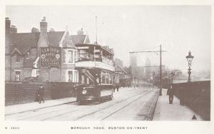 Borough Road Burton On Trent Bus Hotel Bass Beer Advertising Postcard