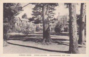 New York Poughkeepsie Cushing House Vassar College Albertype