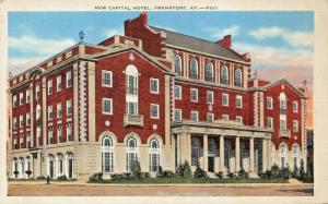FRANKFORT KY~NEW CAPITAL HOTEL 1940 PMK-KYLE PUBLISHING COMP POSTCARD