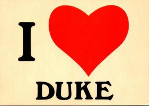 North Carolina Durham Duke University I Love Duke
