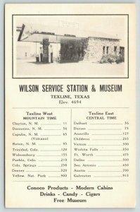 Texline Texas~Wilson Service Station & Museum~Conoco Globe Gas Pumps~c1930s