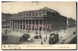 Postcard Old Tram Train Bordeaux Grand Theater