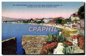 Old Postcard Juan Les Pins The Beach And Villas Winter and Summer Resort